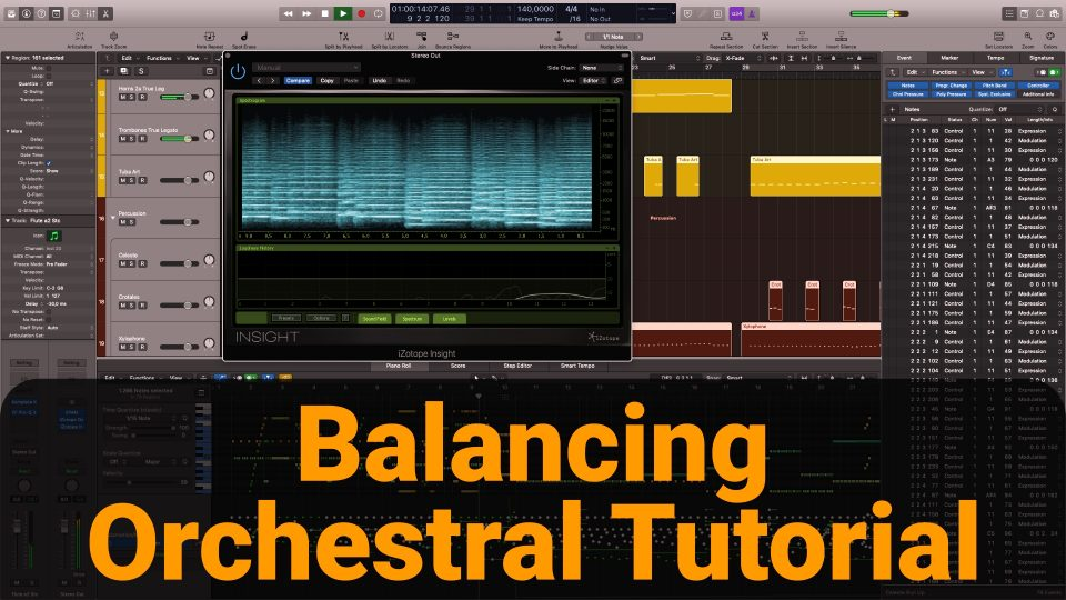 Balance orchestral instruments