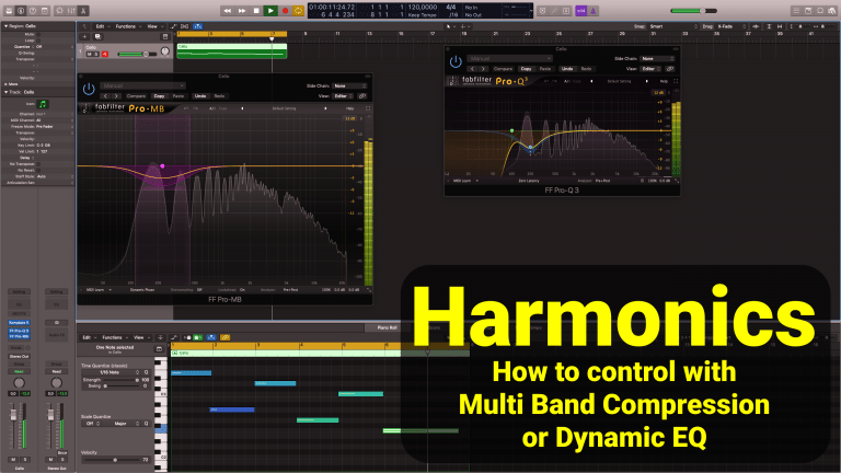 Harmonics - how to control with multi band compression or dynamic eq
