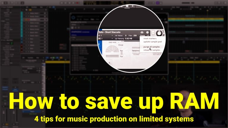 Save up RAM on Limited Systems - Music Production