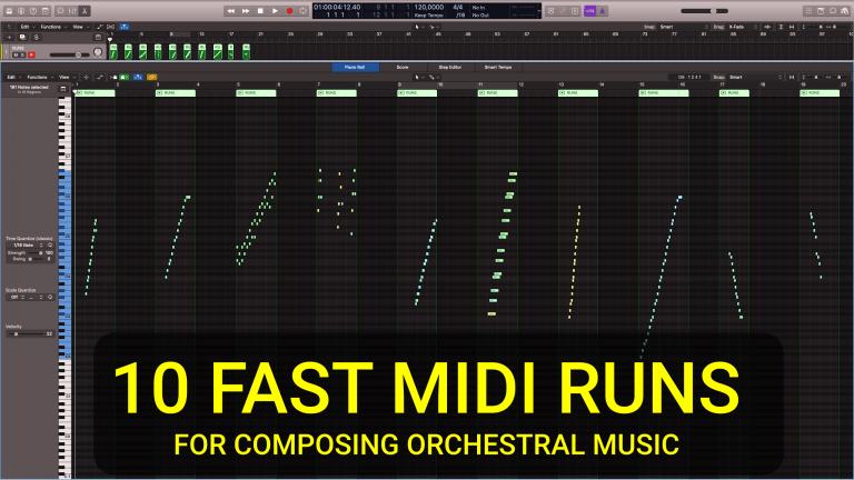 FAST ORCHESTRAL MIDI RUNS
