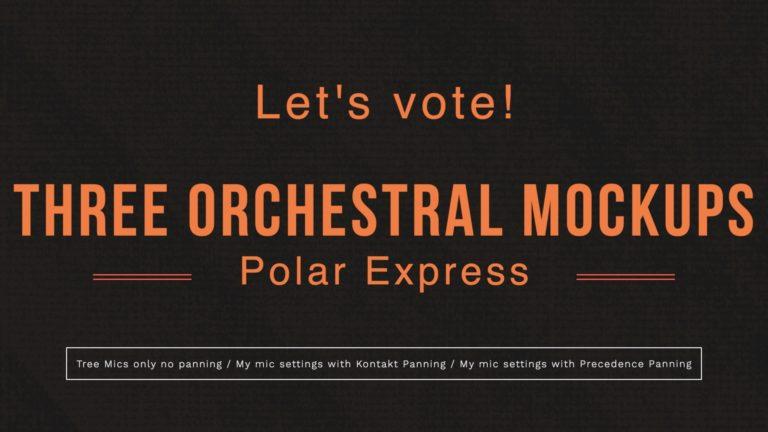 Three Orchestral Midi Mockup Versions - Preferences for panning & mics