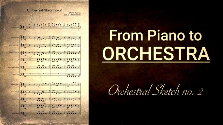 Orchestral Sketch no 2 - From piano to orchestra Brass