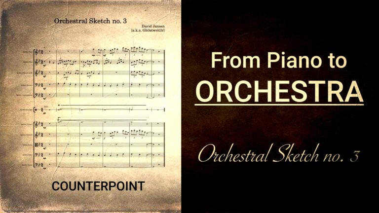 Orchestral Sketches no 3 Counterpoint Counterpoint