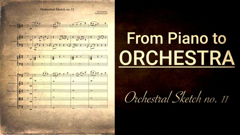 Steal the Show with Orchestral Sketch no. 11 - From piano to orchestra in 10 mins