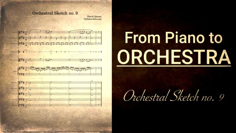 Orchestral Sketch no. 9 - From piano chords to orchestra