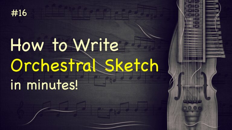 Orchestral Sketch StaffPad no. 15 E-minor bold and epic