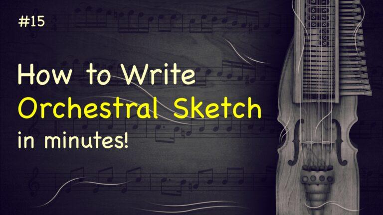 Orchestral Sketch StaffPad no. 15 E-minor emotional